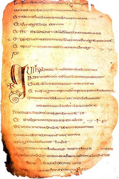 The Cathach of St Columba, possibly the first infringed copyright