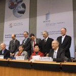 World Trade Organization (WTO), World Health Organization (WHO) and World Intellectual Property Office officials at the launch of the study on 8 February.