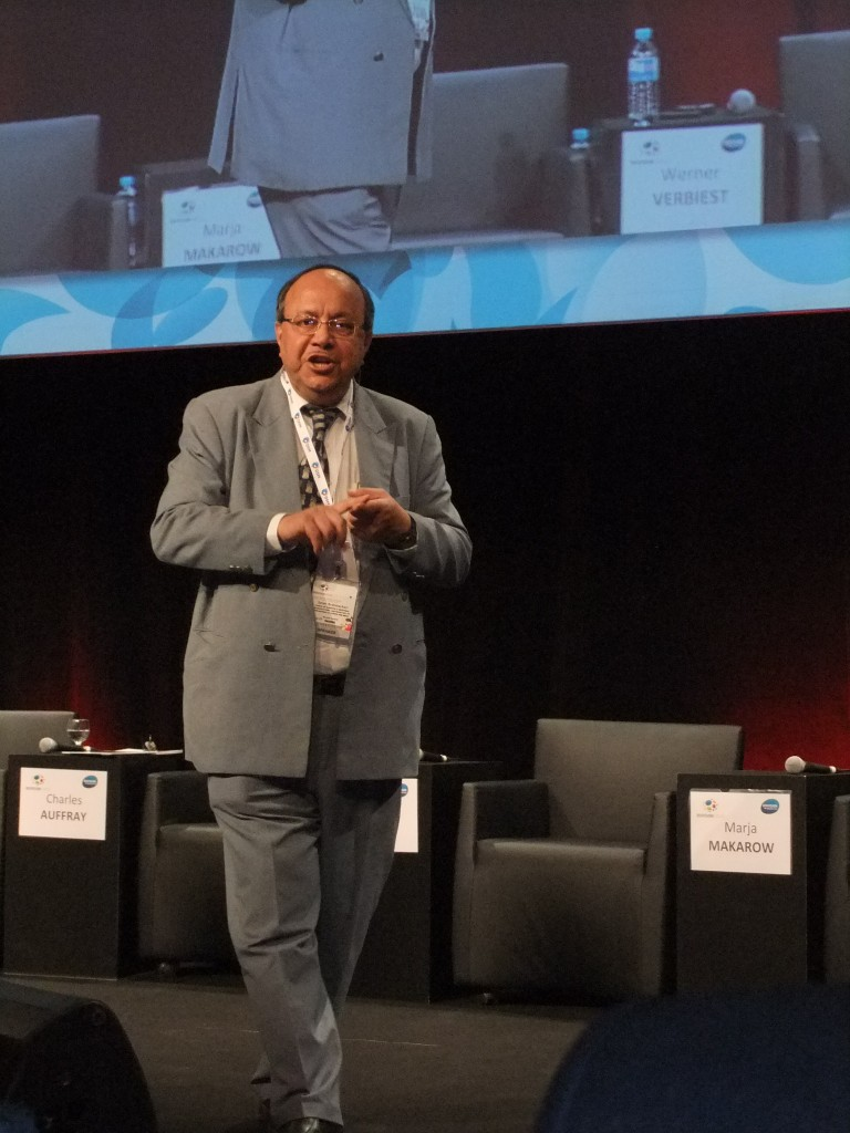 In drug discovery for infectious disease we are falling behind and  need innovation, said Samir Brahmachari. (Photo Credit: Catherine Saez, IP-Watch)