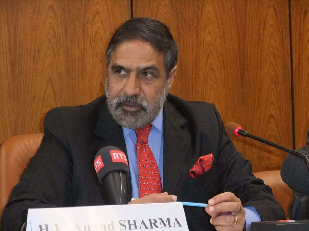 """Sharma: """"We have aligned ourselves completely ever since the multilateral treaties were agreed to and signed by India."""" (Photo Credit: Catherine Saez, IP-Watch)"""