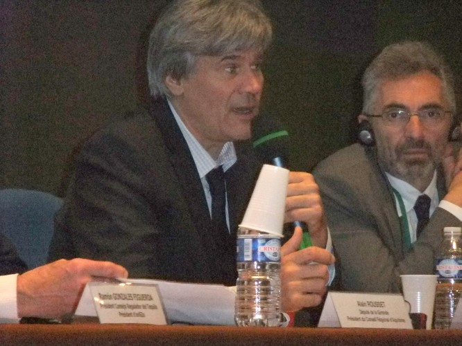 French Minister Stéphane Le Foll a strong supporter of GIs and AOs. (Photo Credit: Catherine Saez, IP-Watch)