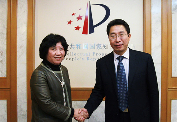 SIPO Commissioner meets WIPO Jan 2014