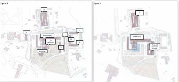WIPO existing buildings (figure 1) and proposed ones (figure 2)