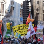 Protest in Munich to Obama: Mr. President, hand your Peace Prize to Chelsa Manning and Edward Snowden