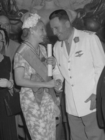 President Juan Domingo and Eva Peron, from the national archives