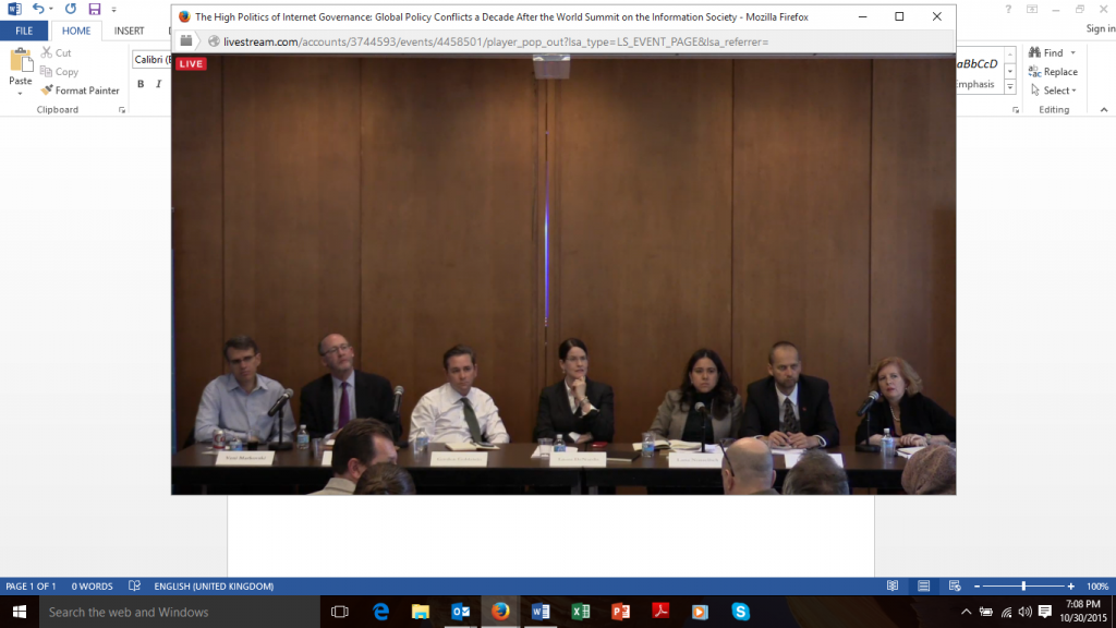 Internet gov panel at columbia