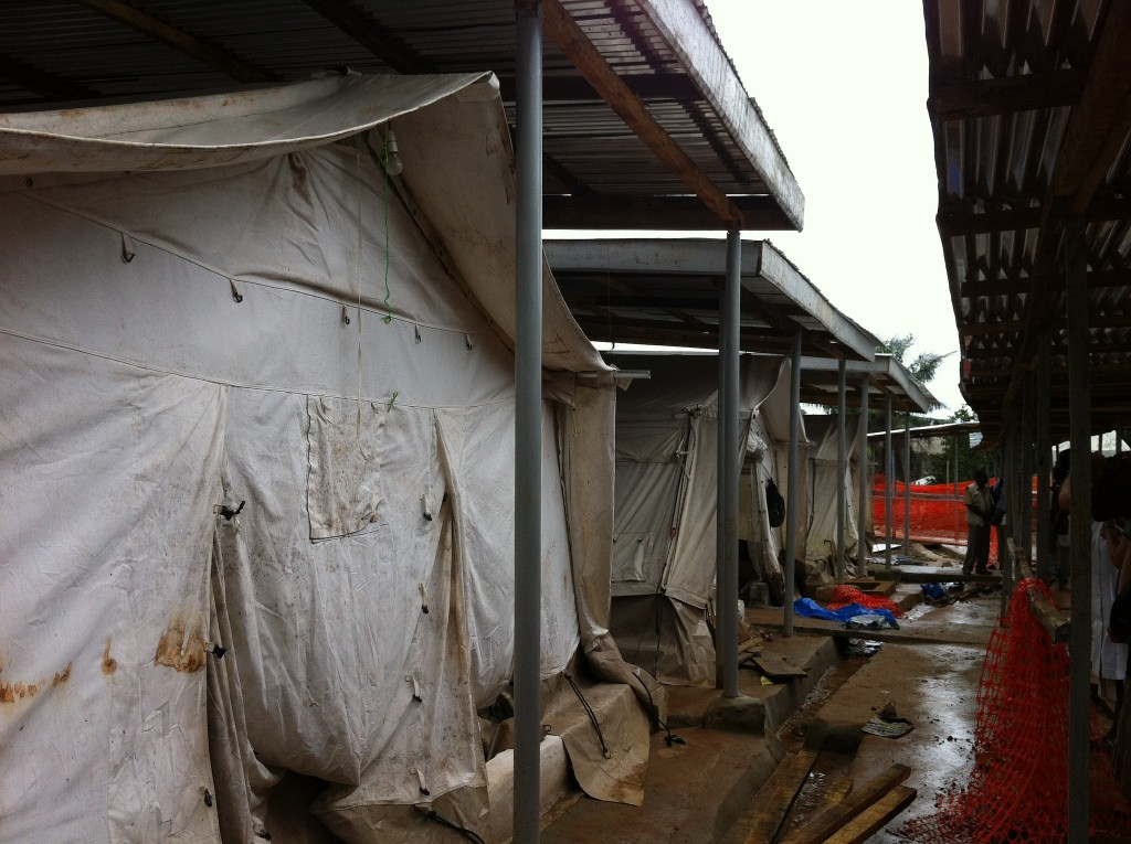 New Ebola isolation center being constructed in Free Town, Sierra Leone.