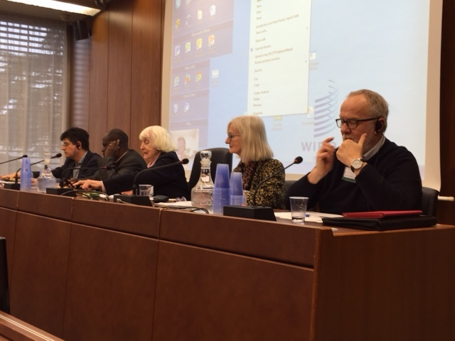 A panel of authors at WIPO