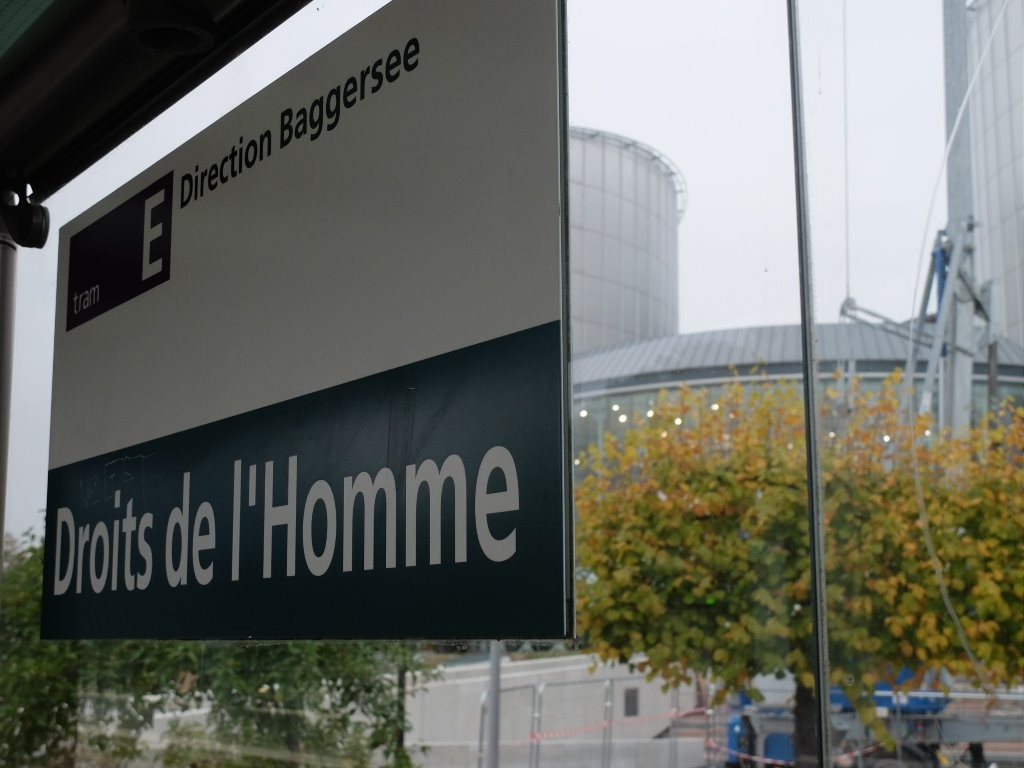 Hopefully more than an empty bus stop in Straßbourg, France - the seat of the European Council of Human Rights