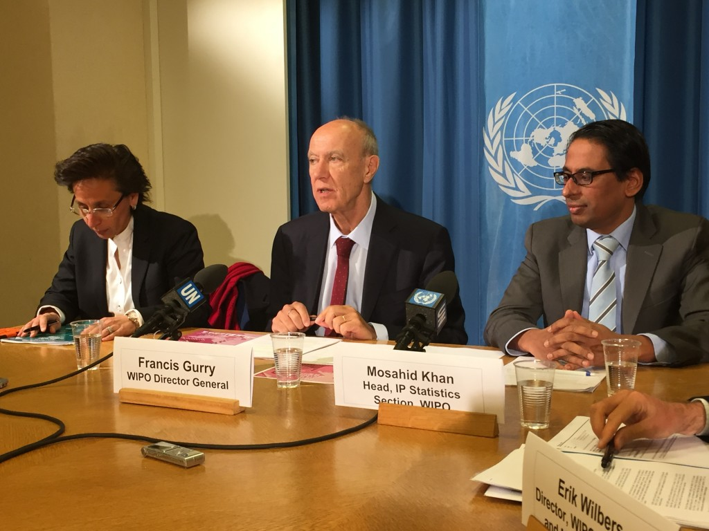 WIPO Director General Francis Gurry presents latest statistics at UN Press Room